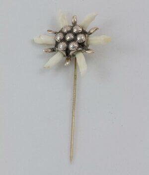 Marder-Edelweiss Hut-(Krawatten-)Nadel