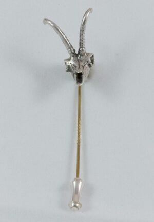 Gamsschädel Hut-(Krawatten-)Nadel