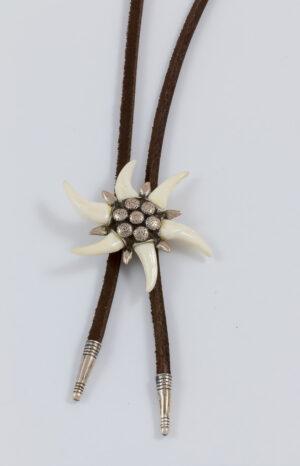 Fuchshaken-Edelweiss Trachtenkrawatte