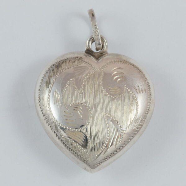 Herz, 25 mm, einseitig graviert