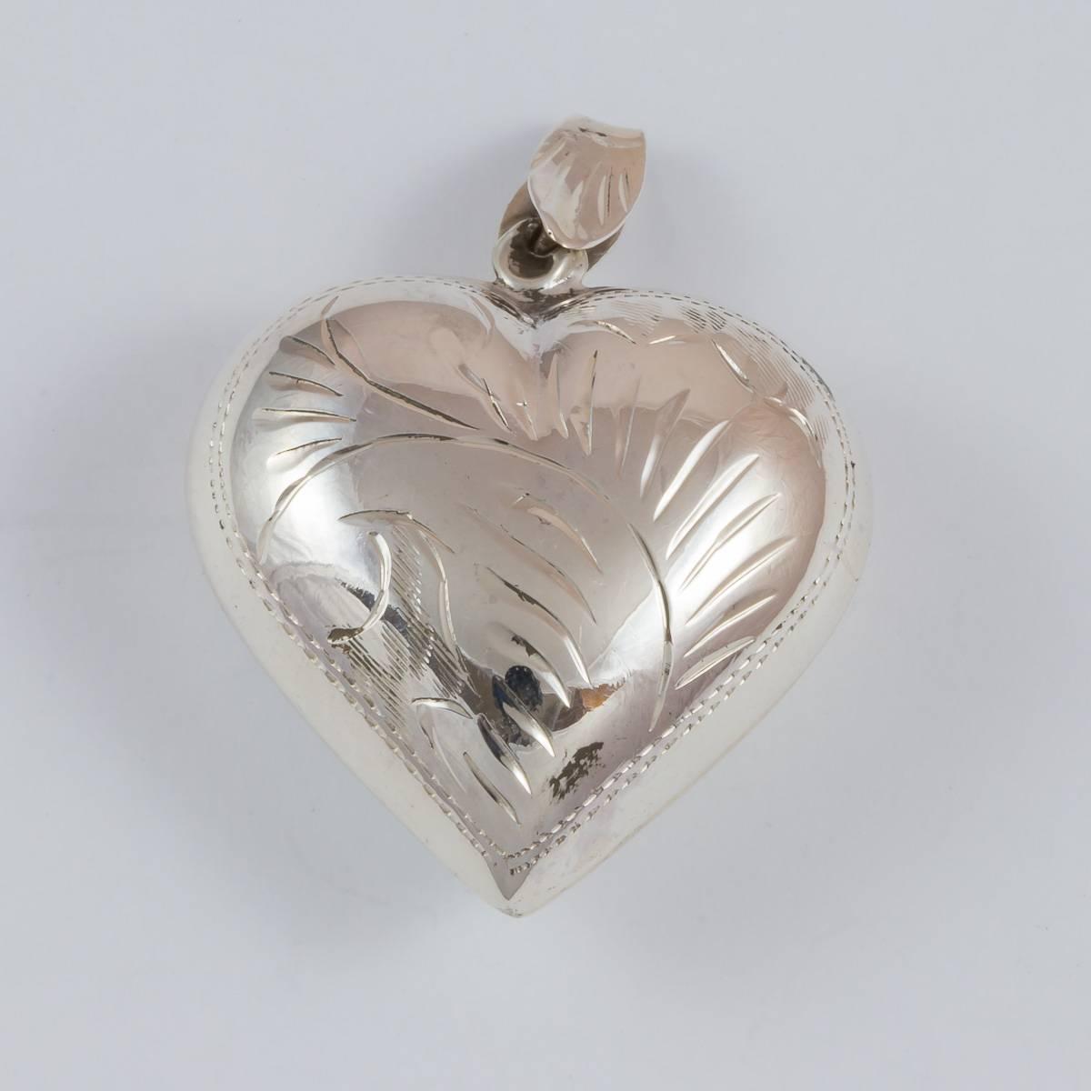 Herz, 25 mm, beidseitig graviert