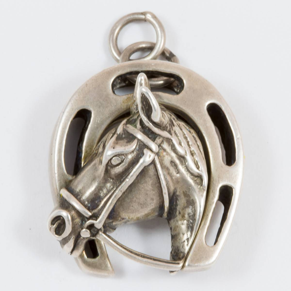 Anhänger Hufeisen mit Pferdekopf