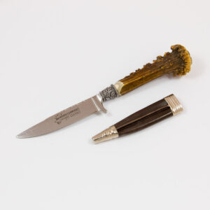 Lederhosen-Messer Hirschrosen-Griff